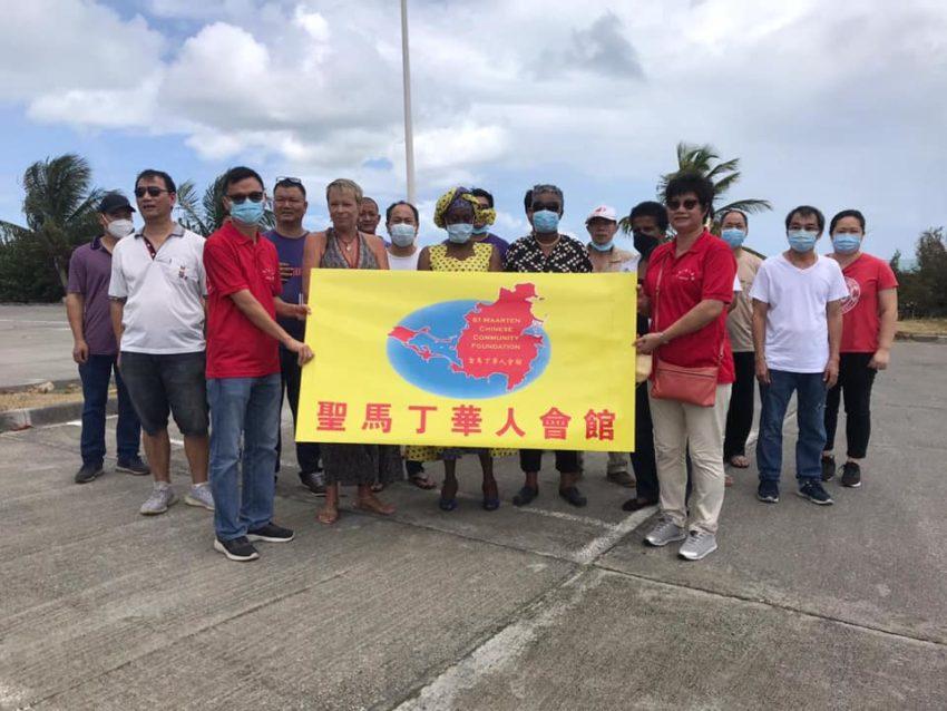 Les commerçants chinois de Saint-Martin font un don à la communauté